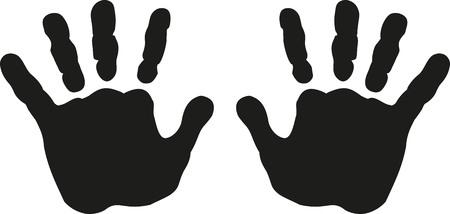 Baby hands print