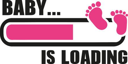 Baby girl est en cours de chargement avec téléchargement bar