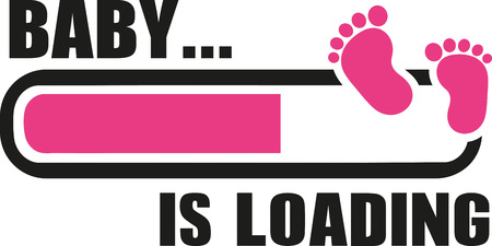 Baby girl is Loading with download bar