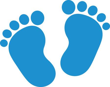 Bébé pieds garçon Vecteurs