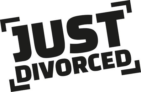 just: Just divorced stamp style Illustration
