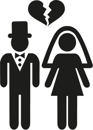 unhappy family: Divorced couple icon