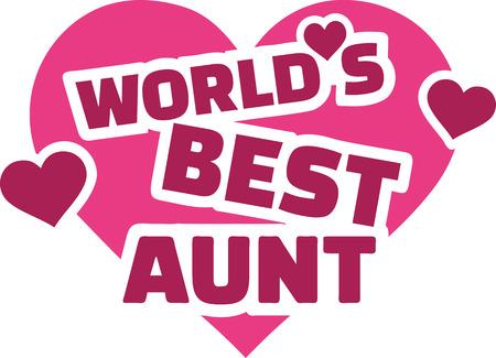 La mejor tía del mundo con el corazón