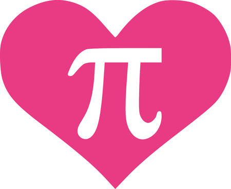 pink heart: Pi in pink heart