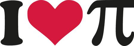 pi: I love pi symbol