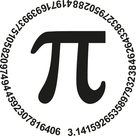 pi: Pi with numbers of pi in a circle