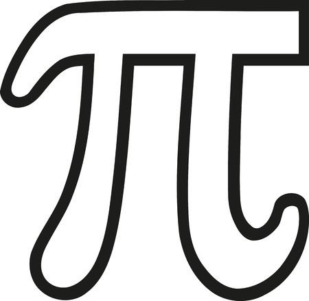 pi: Pi sign outline