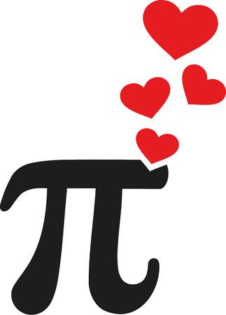 pi: Pi with hearts love
