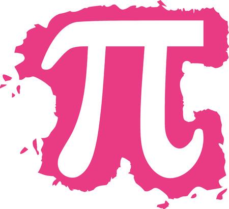 pi: Pi sign at a pink splash