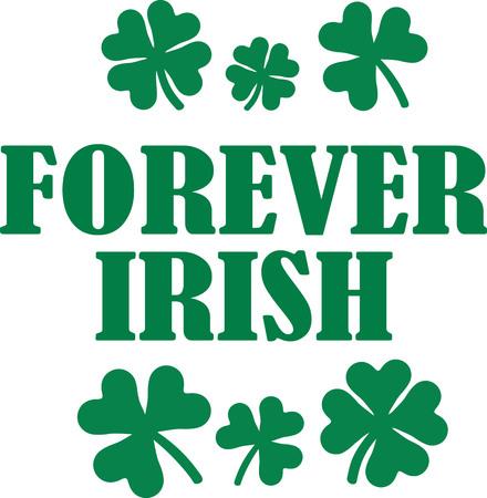 shamrocks: Forever irish saying with shamrocks
