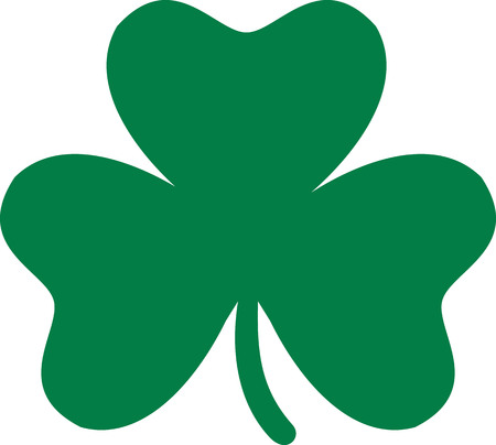 Classic clover with three leaves Illustration