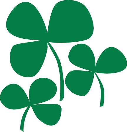 shamrock: Three stylish shamrocks Illustration