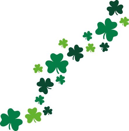 shamrocks: Decorative shamrocks diagonal St. Patricks Day Illustration