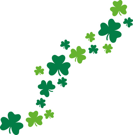 clovers: Happy St. Patricks Day card background clovers