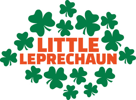 irish woman: For Pregnant Irish woman - Little leprechaun Illustration