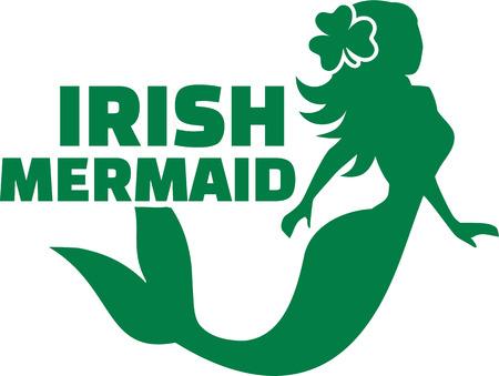 Irish mermaid Illustration