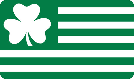 irish symbols: Irish St. Patricks Day Flag green