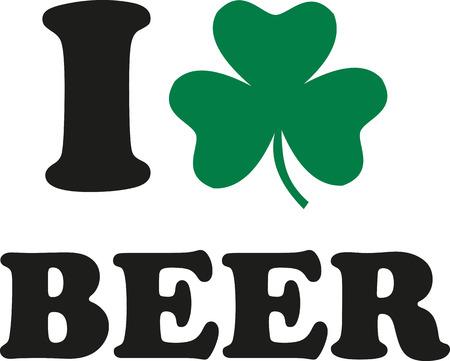 alphabet beer: I love beer with clover