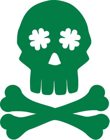 irish: Irish skull with bones