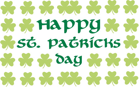 clover background: Happy St. Patricks Day with clover background