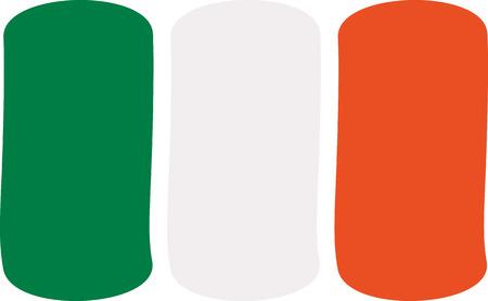 ireland flag: Ireland flag drawn