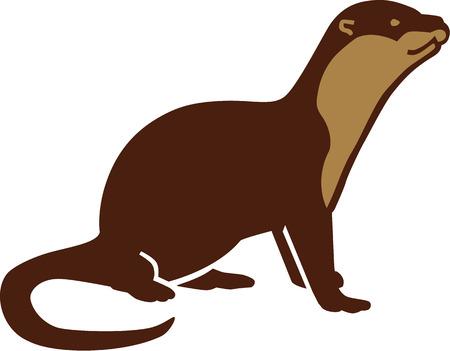 nutria caricatura: Otter cartoon