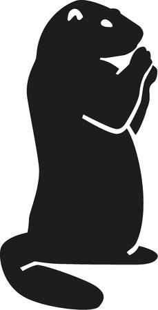 marmot silhouette stock vector 50830872