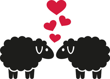 sheeps: Sheeps in love with hearts
