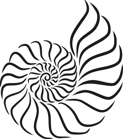 Shell snail caligraphy style