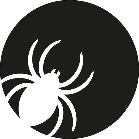 stamped: Spider silhouette stamped out of a circle
