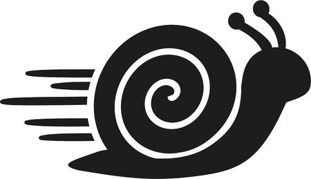 Fast snail icon  イラスト・ベクター素材