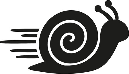 Fast snail icon Vectores