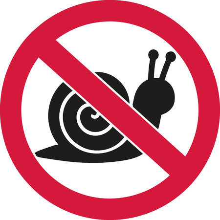 ban sign: Snails forbidden ban sign