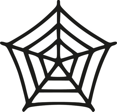 spider's web: Small handdrawn spiders web