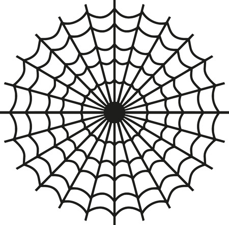 spider's web: Spiders web icon Illustration