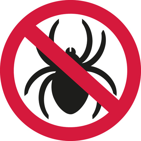 ban sign: No spiders with ban sign Illustration