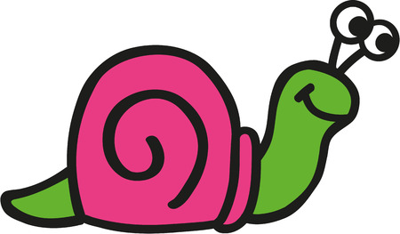 snail: Crazy Snails in pink and green