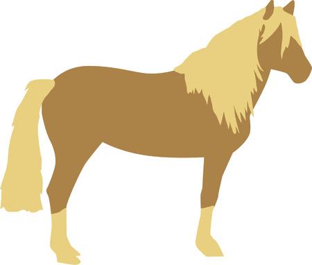 Haflinger 馬  イラスト・ベクター素材