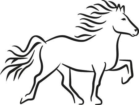 Iceland horse Stock Illustratie