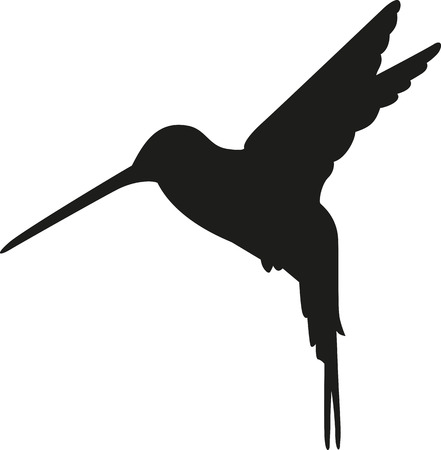 Hummingbird silhouet