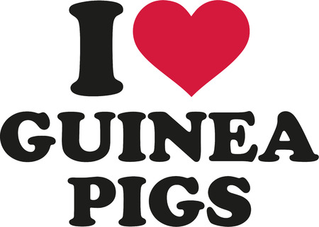 I love guinea pigs Stock Vector - 51174653