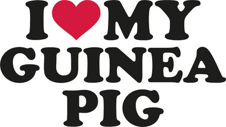 I love my guinea pig Illustration