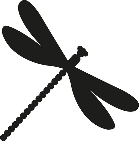 animal silhouette: Dragonfly silhouette