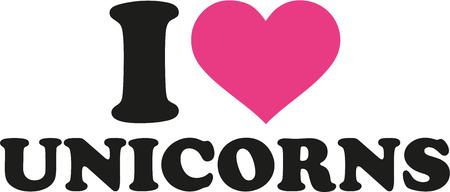 나는 유니콘을 좋아한다. 일러스트
