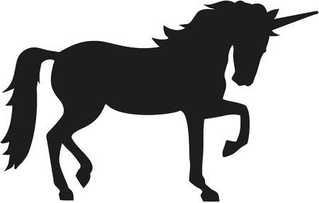 Unicorn silhouette 向量圖像