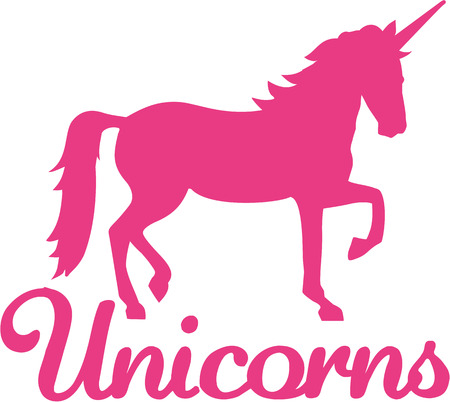 Unicorn with word unicorn 版權商用圖片 - 51175596