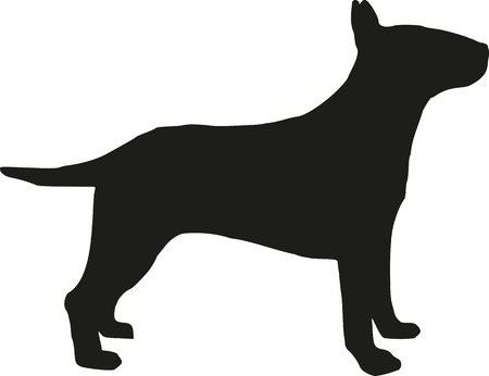 Bull terrier silhouette Illustration