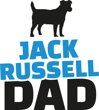jack russell: Jack Russell dad with dog silhouette