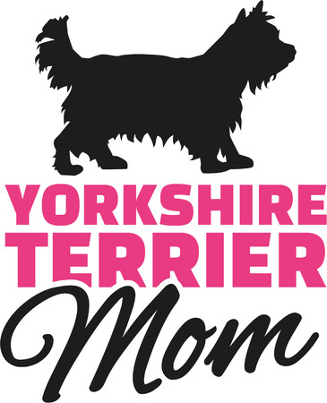 yorkshire terrier: Yorkshire Terrier Mom with dog silhouette