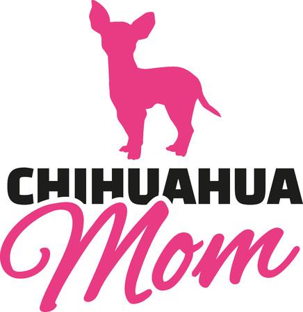 Chihuahua Mama con la silueta del perro